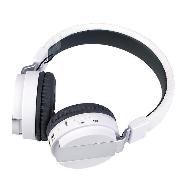 Bluetooth sluchátka ZDARMA HUDBA - bílá