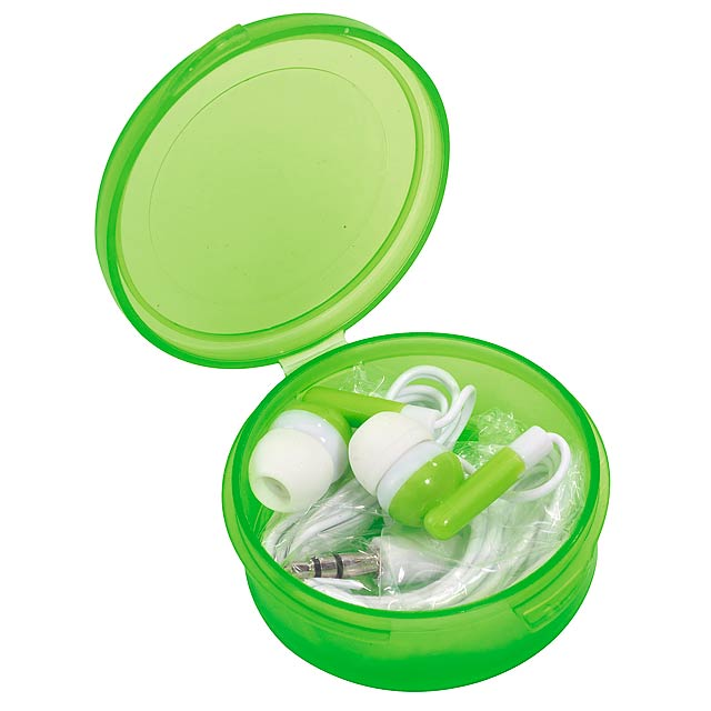 In-ear headphones MUSIC - green