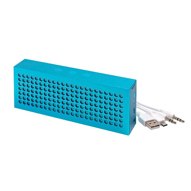 Bluetooth reproduktor BRICK - modrá - foto
