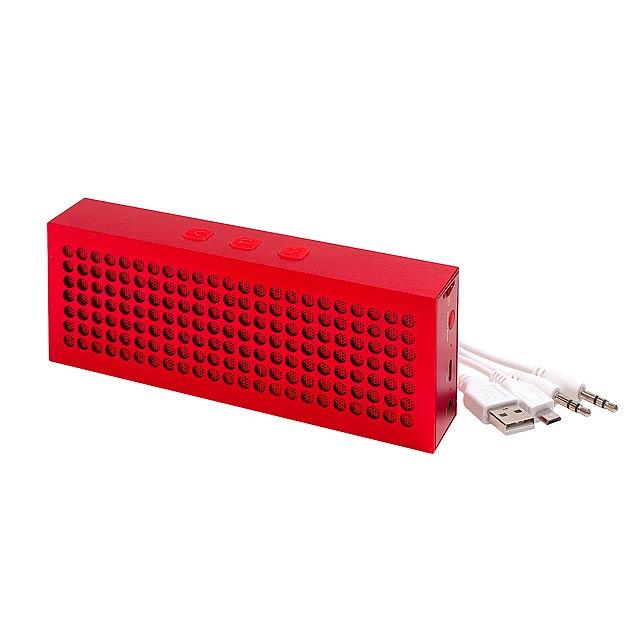 Bluetooth reproduktor BRICK - červená