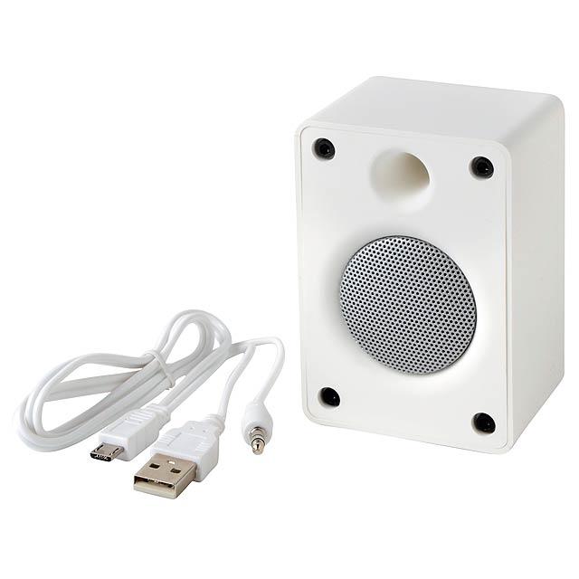 Bluetooth reproduktor OLD SCHOOL - bílá