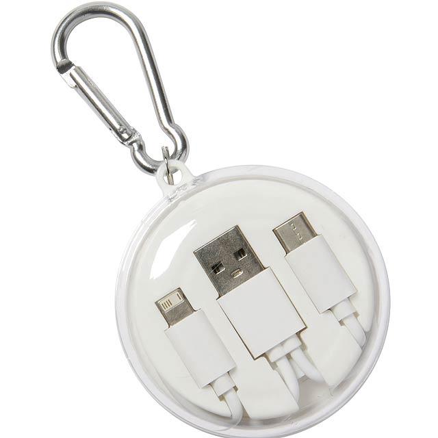 Sluchátka s univerzálním nabíjecím kabelem LISTEN & CHARGE - biela