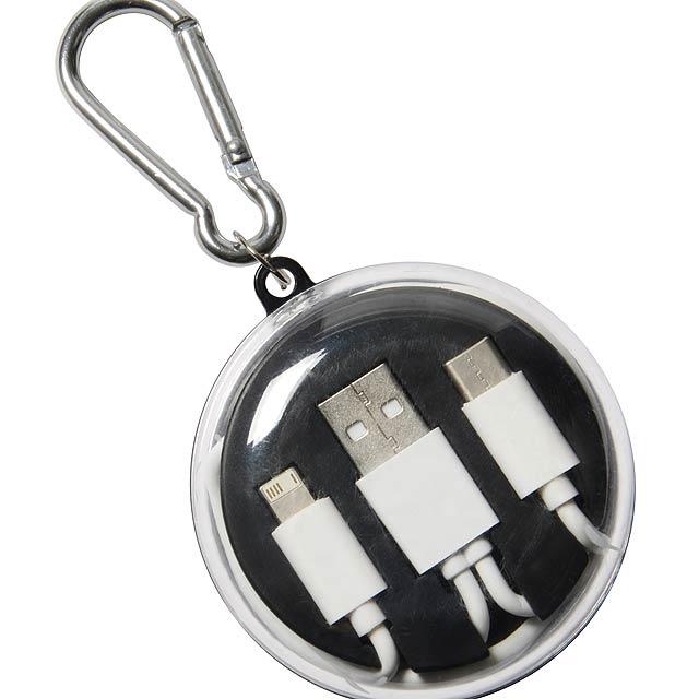 Sluchátka s univerzálním nabíjecím kabelem LISTEN & CHARGE - čierna