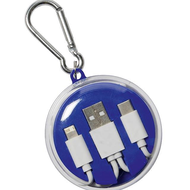 Sluchátka s univerzálním nabíjecím kabelem LISTEN & CHARGE - modrá