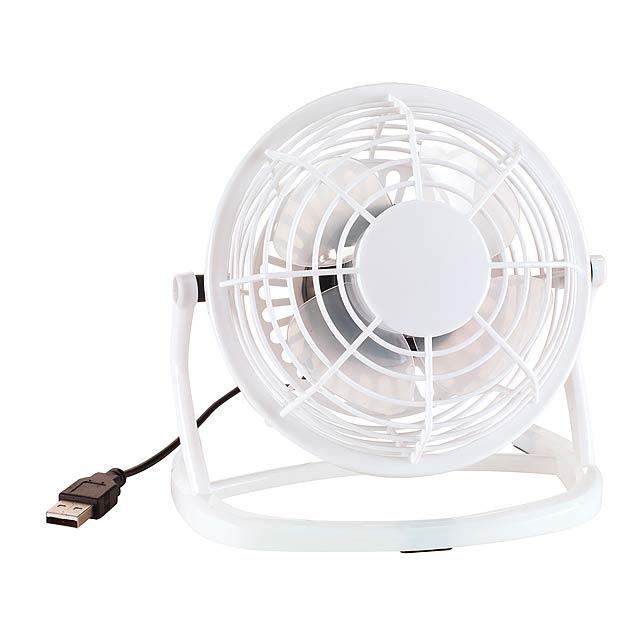 USB ventilátor NORTH WIND - bílá - foto