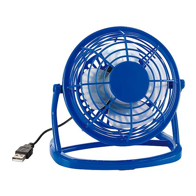 USB ventilátor NORTH WIND - modrá - foto