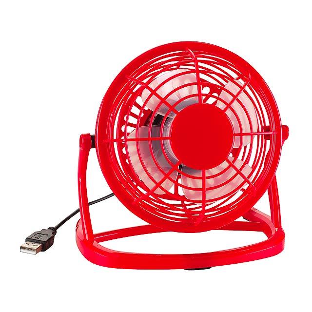 USB ventilátor NORTH WIND - červená - foto