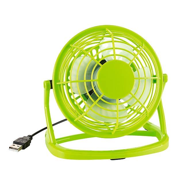USB ventilátor NORTH WIND - zelená - foto