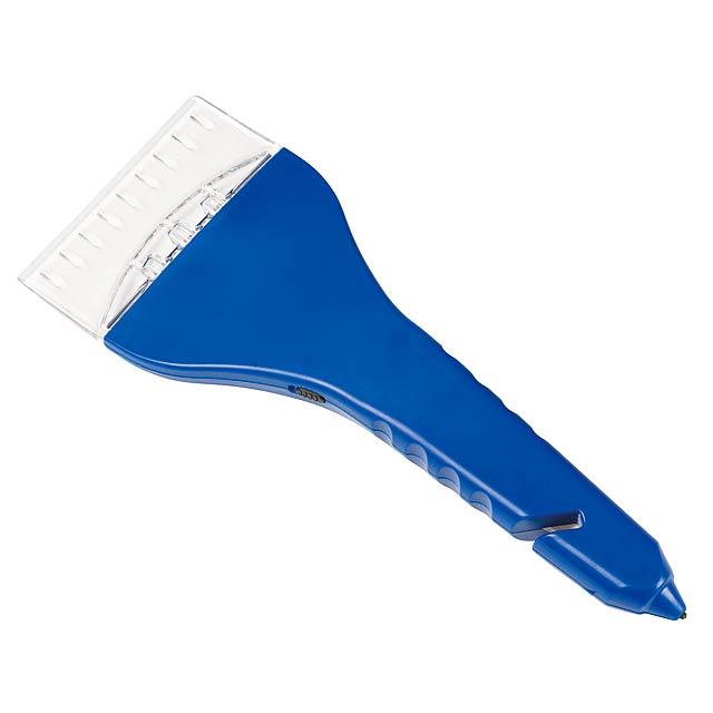 Škrabka na led ICED s integrovaným světlem - modrá