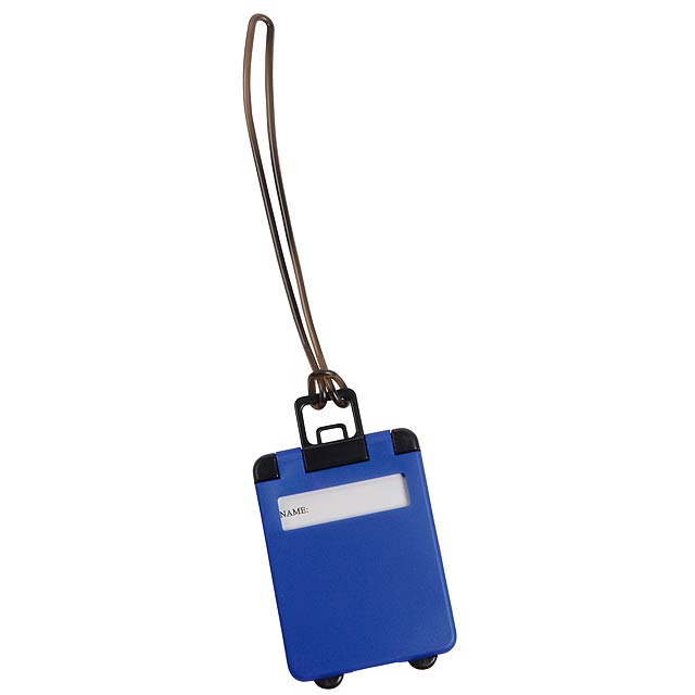 Luggage tag WANDERLUST - blue