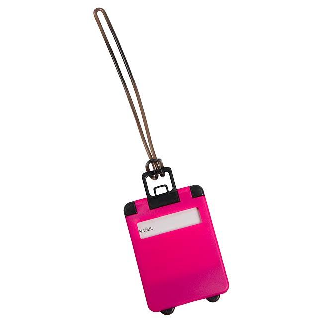 Luggage tag WANDERLUST - pink