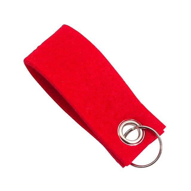 Klíčenka FELT - červená - foto