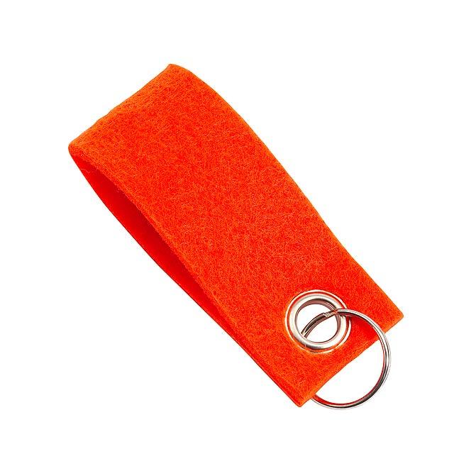 Klíčenka FELT - oranžová