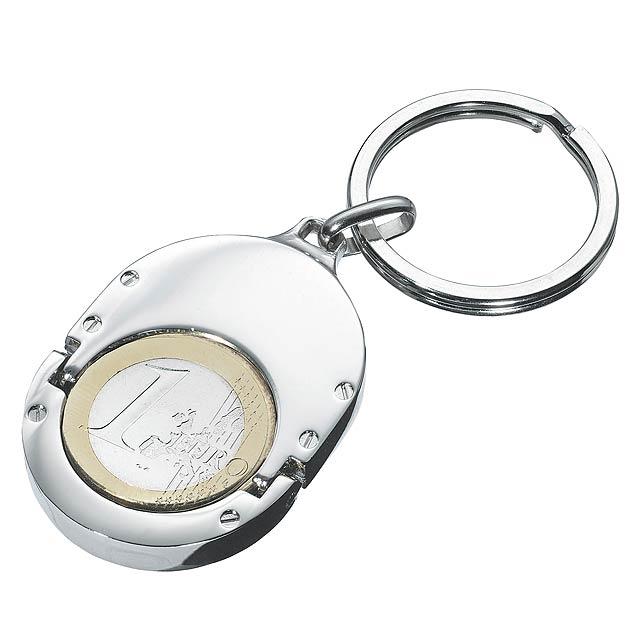 Klíčenka  1 EURO HOLDER - stříbrná