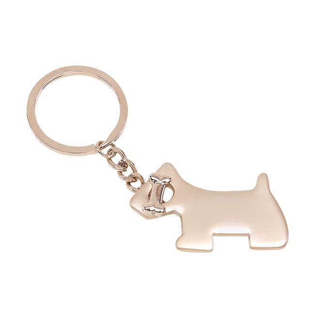 Klíčenka  DOG - stříbrná