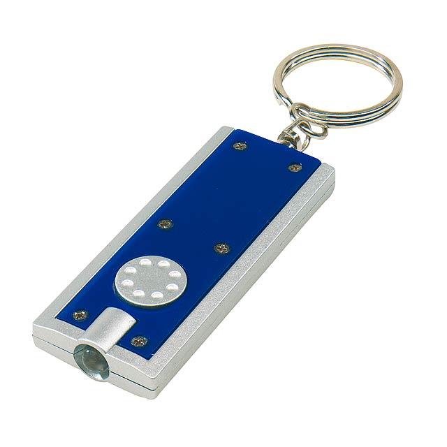 Plochá klíčenka LOOK - modrá - foto