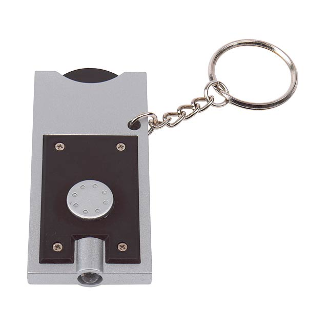 LED klíčenka SHOPPING - stříbrná