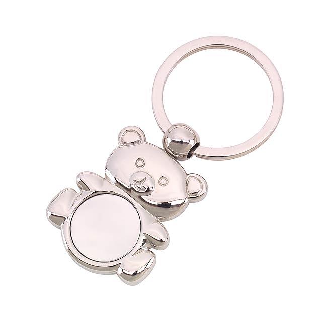 Klíčenka  TED - stříbrná