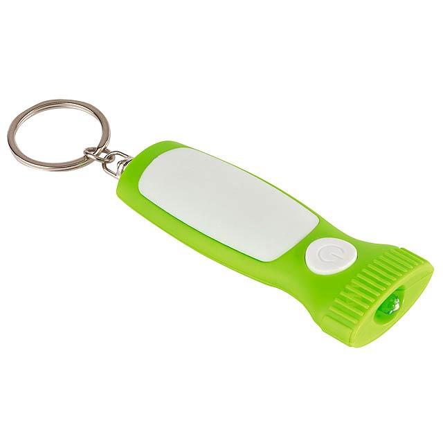 Klíčenka MITHRAS s bílým LED světlem - citrónová - limetková