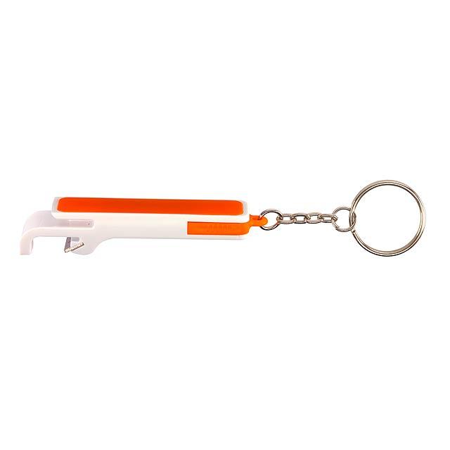 Klíčenka DOUBLE OPEN - oranžová