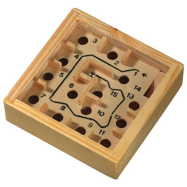 Dřevěná labyrintová hra LOST - dřevo