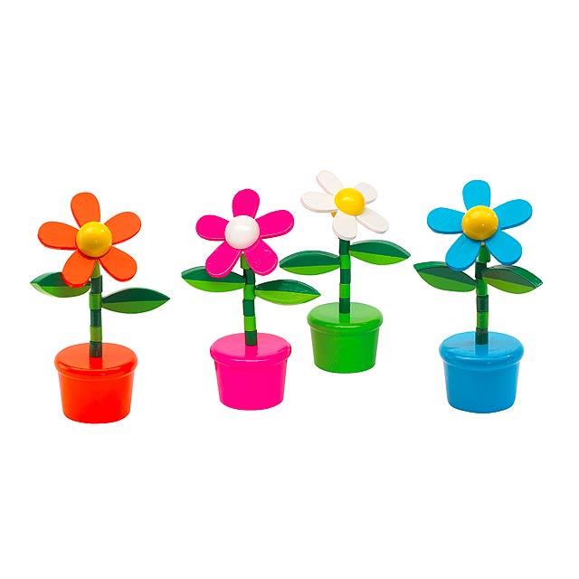 Hračky FLOWER POWER, 4 různé barvy - oranžová