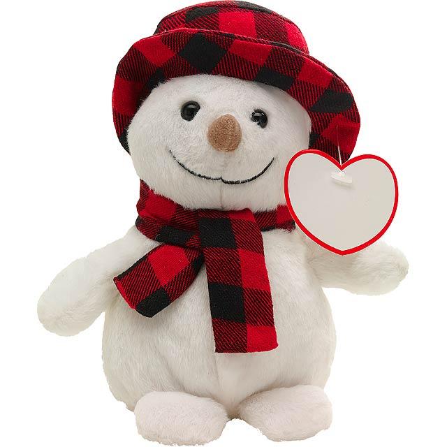 Plyšový sněhulák JOHANN - červená
