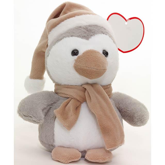 Plyšový tučňák PIPITO - šedá