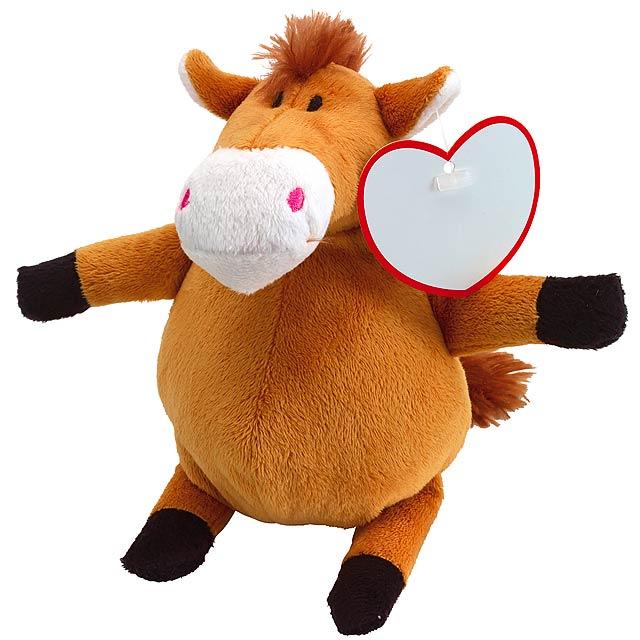 Plyšový kůň KYRA - hnědá