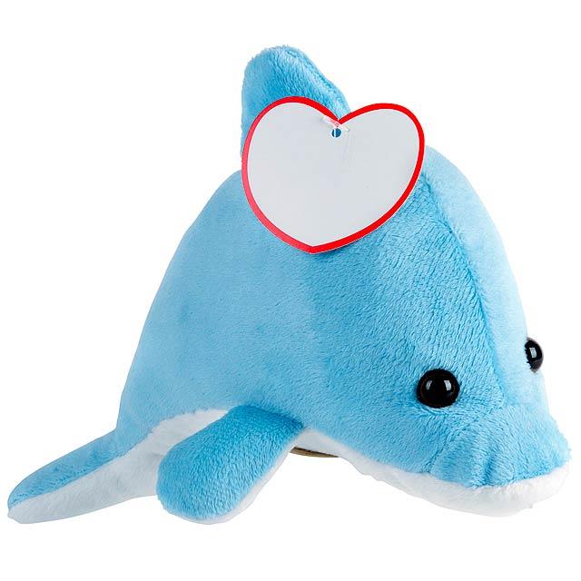 Plyšový delfín OCEAN IDA - modrá