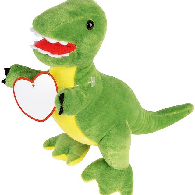 Plyšový dinosaurus FRIGHTY REX - žlutá
