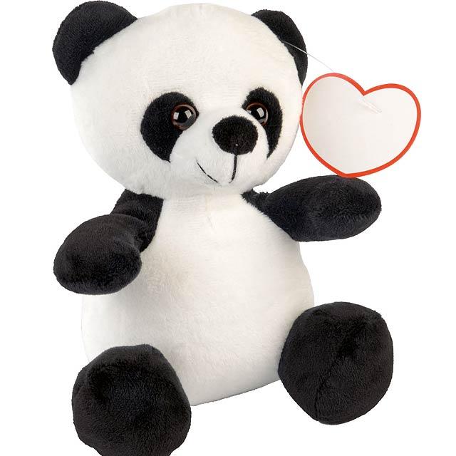 Plyšová panda ANTHONY - bílá/černá