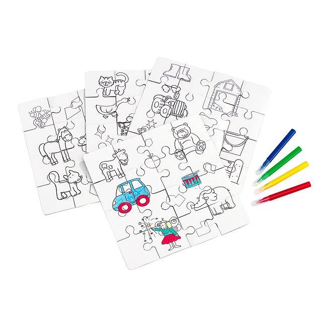 Dětské puzzle HRAJTE VÁŠ OBRAZ - multicolor