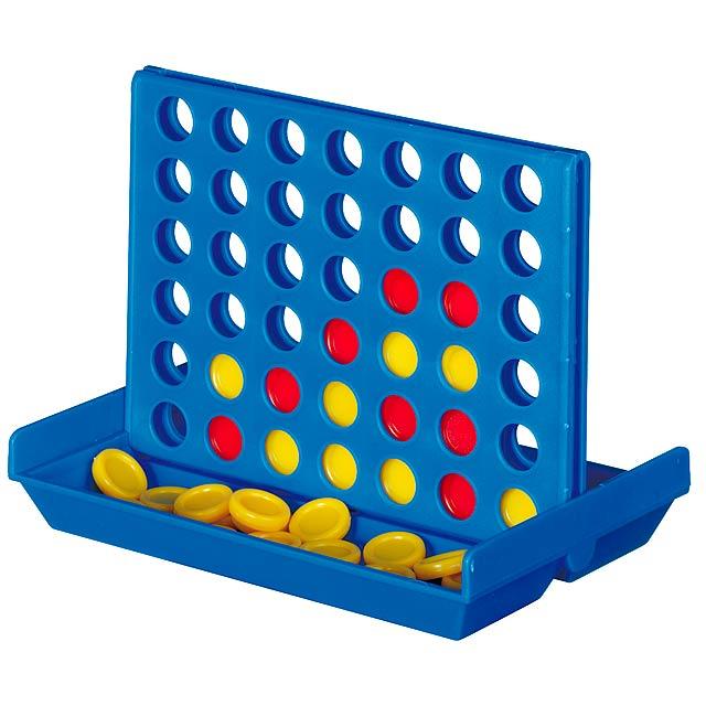 Zábavná hra 4 IN A LINE - modrá