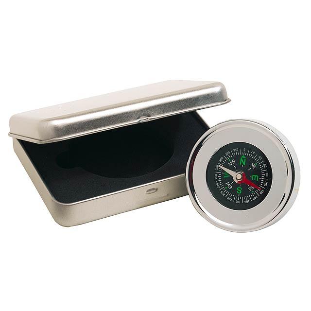 Chrome kompas NAVIGACE - stříbrná