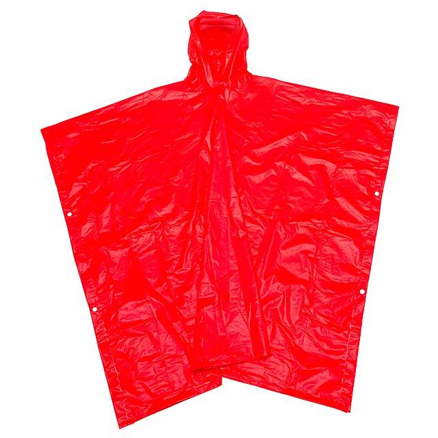 Dešťové pončo NEVER WET - červená