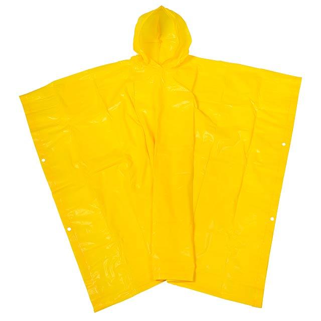 Dešťové pončo NEVER WET - žlutá