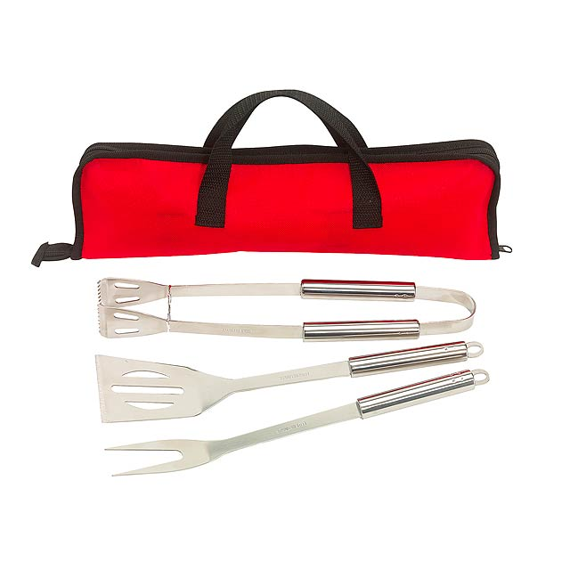 Barbecue set SMOKY - red