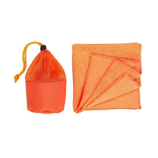 Mikroutěrka CLEANER - oranžová