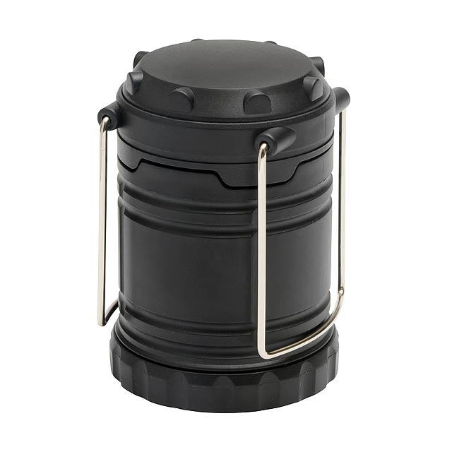 COB kempingové světlo FLASH ON - černá