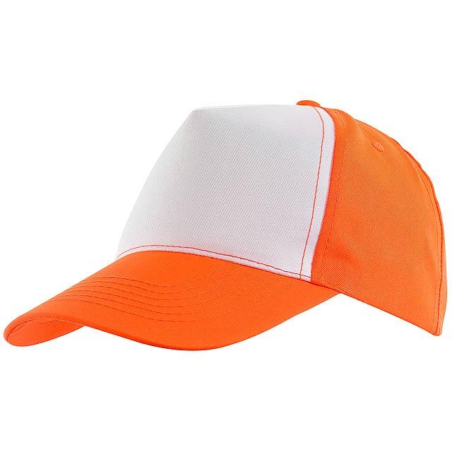 Kšiltovka 5-ti panelová SHINY - oranžová