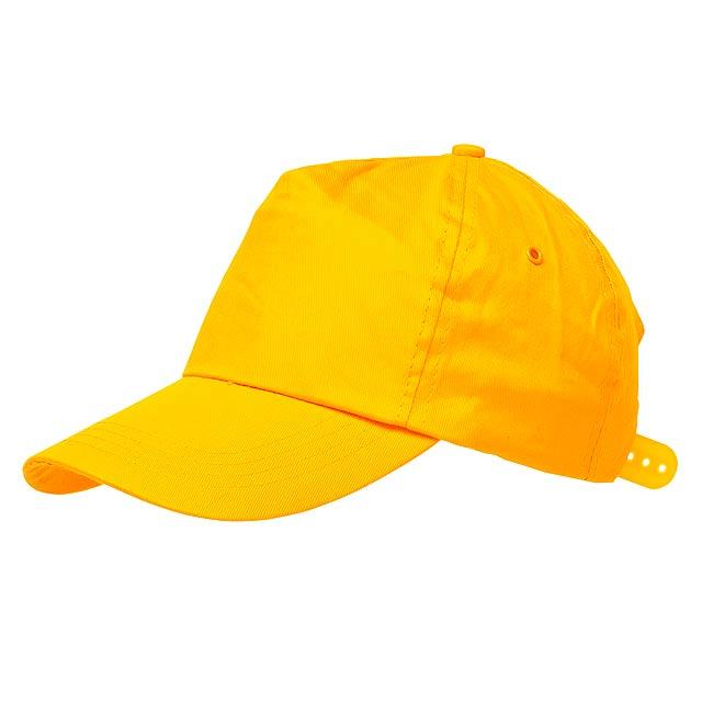 Kšiltovka 5-ti panelová RACING - žlutá