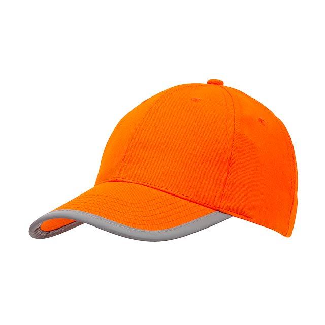 Kšiltovka 6-ti panelová DETECTION - oranžová