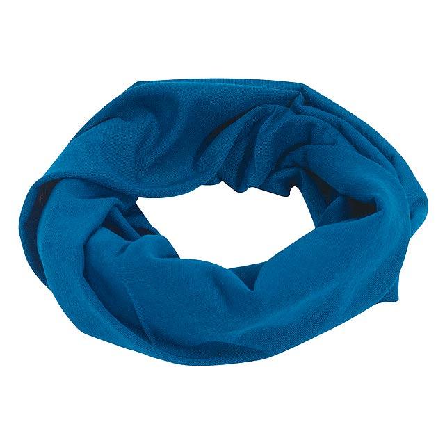 Multifunkční šála TRENDY - královsky modrá
