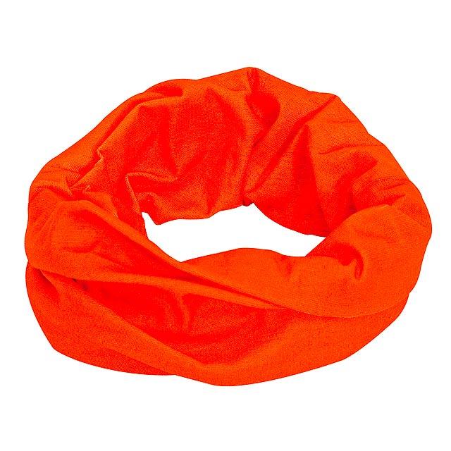Multifunkční šála TRENDY - oranžová