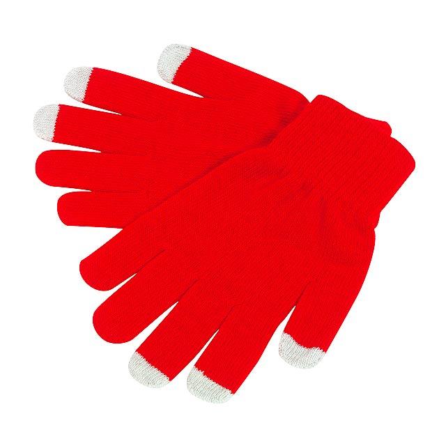 Dotykové rukavice OPERATE - červená