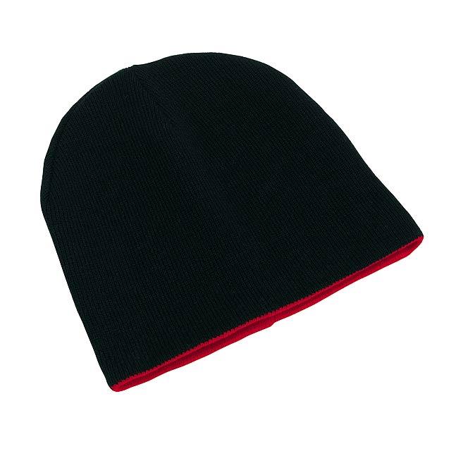 Oboustranná čepice NORDIC - červená