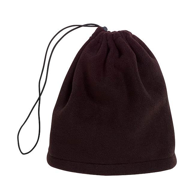 Fleece šátek-klobouk VARIOUS - černá