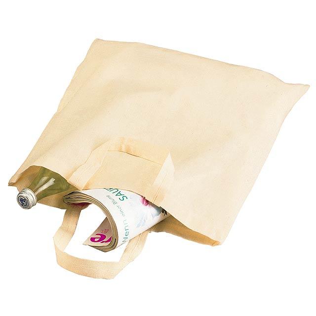 Bavlněná taška PURE s krátkými uchy - béžová