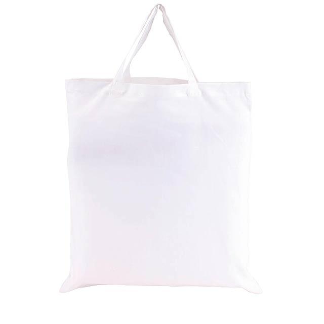Bavlněná taška PURE s krátkými uchy - bílá